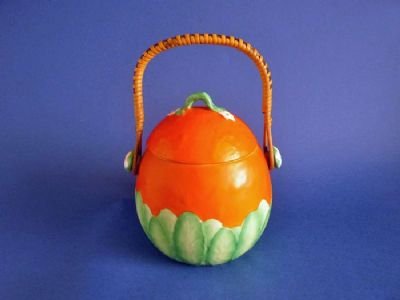 Rare Carlton Ware 'Orange' Art Deco Biscuit Jar c1930 (Sold)